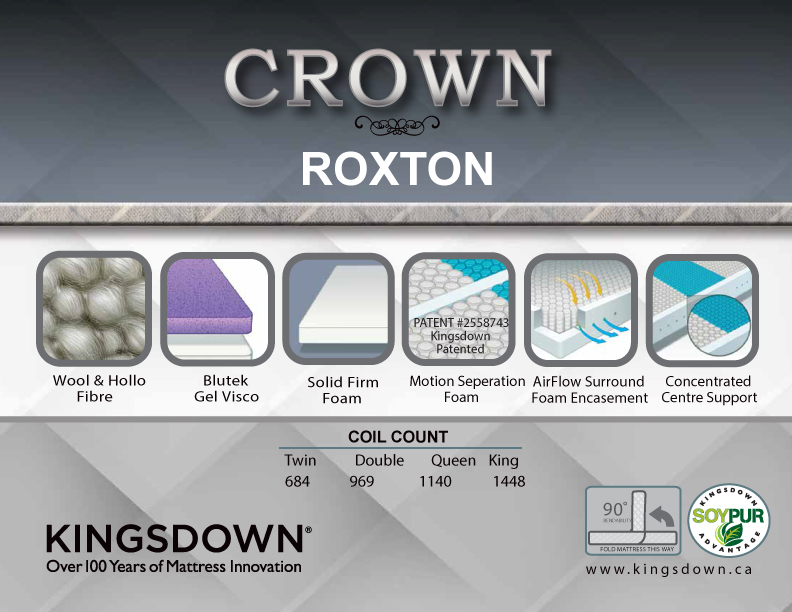 Roxton Tight Top Firm Kingsdown Crown Collection Sleep