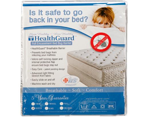healthguard full encasement bed bug barrier | sleep guide mattress